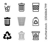 waste icons. set of 9 editable...   Shutterstock .eps vector #1006866799