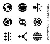 orbit icons. set of 9 editable... | Shutterstock .eps vector #1006868089