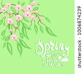 spring is here. vector... | Shutterstock .eps vector #1006874239