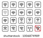 wireless icons set  wifi signs... | Shutterstock .eps vector #1006874989
