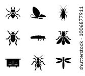 insect icons. set of 9 editable ... | Shutterstock .eps vector #1006877911