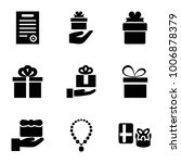 present icons. set of 9... | Shutterstock .eps vector #1006878379