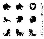 lion icons. set of 9 editable... | Shutterstock .eps vector #1006879639
