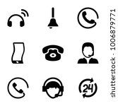call icons. set of 9 editable... | Shutterstock .eps vector #1006879771