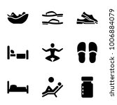 relax icons. set of 9 editable... | Shutterstock .eps vector #1006884079