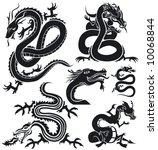 jpeg version.  dragon set 1 | Shutterstock . vector #10068844