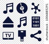 multimedia icons. set of 9... | Shutterstock .eps vector #1006885291