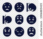 upset icons. set of 9 editable...   Shutterstock .eps vector #1006885435
