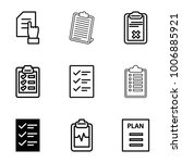checklist icons. set of 9...   Shutterstock .eps vector #1006885921