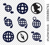 geography icons. set of 9... | Shutterstock .eps vector #1006886761