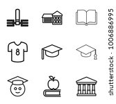 college icons. set of 9... | Shutterstock .eps vector #1006886995