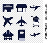 commercial icons. set of 9... | Shutterstock .eps vector #1006887601