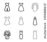evening dress icons. set of 9...   Shutterstock .eps vector #1006888615