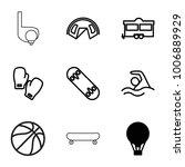 recreation icons. set of 9...   Shutterstock .eps vector #1006889929