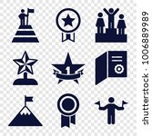 achievement icons. set of 9... | Shutterstock .eps vector #1006889989