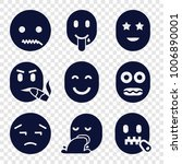 emotion icons. set of 9... | Shutterstock .eps vector #1006890001