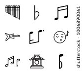 melody icons. set of 9 editable ... | Shutterstock .eps vector #1006890061