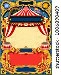 circus editable frame. vintage... | Shutterstock .eps vector #1006890409