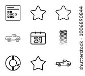 trendy icons. set of 9 editable ...