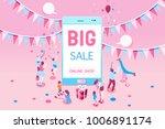 phone sale offer concept for... | Shutterstock .eps vector #1006891174