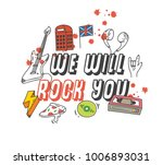 cool t shirt design in doodle... | Shutterstock .eps vector #1006893031
