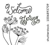 welcome spring handwritten ... | Shutterstock .eps vector #1006893709
