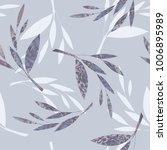 leaves seamless pattern. hand...   Shutterstock .eps vector #1006895989