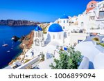 oia  santorini   greece. famous ... | Shutterstock . vector #1006899094