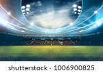 stadium in lights 3d rendering. | Shutterstock . vector #1006900825
