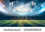 lights at night and stadium 3d... | Shutterstock . vector #1006900834