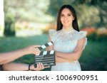 smiling  actress auditioning... | Shutterstock . vector #1006900951