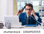 stressed businessman thinking... | Shutterstock . vector #1006903555
