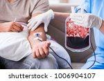patient getting blood... | Shutterstock . vector #1006904107