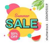 summer sale banner design.   Shutterstock .eps vector #1006905019