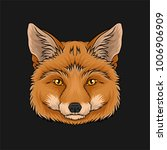 head of red fox  face of wild... | Shutterstock .eps vector #1006906909