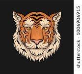 head of tiger  face of wild... | Shutterstock .eps vector #1006906915