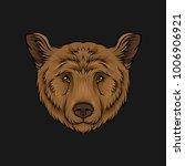 head of brown bear  face of... | Shutterstock .eps vector #1006906921
