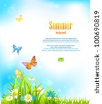 Summer Vector Background With...