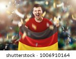a german fan  a fan of a man... | Shutterstock . vector #1006910164