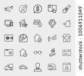 business outline vector icon... | Shutterstock .eps vector #1006911049