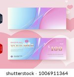 gift voucher card template... | Shutterstock .eps vector #1006911364