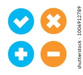 flat checkmark  cross and plus  ... | Shutterstock .eps vector #1006912789