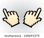 hand cursor isolated on white background - stock photo