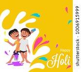 indian festival of colours ... | Shutterstock .eps vector #1006915999
