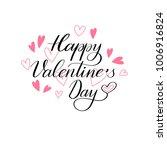 happy valentine day lettering... | Shutterstock .eps vector #1006916824
