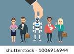 human hand picking robot... | Shutterstock .eps vector #1006916944