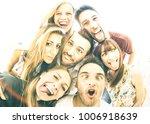 happy best friends taking... | Shutterstock . vector #1006918639