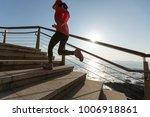 sports fitness female runner...   Shutterstock . vector #1006918861