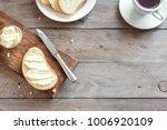 butter and bread for breakfast  ...   Shutterstock . vector #1006920109