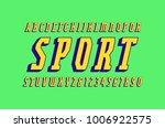 italic narrow serif bulk font...   Shutterstock .eps vector #1006922575